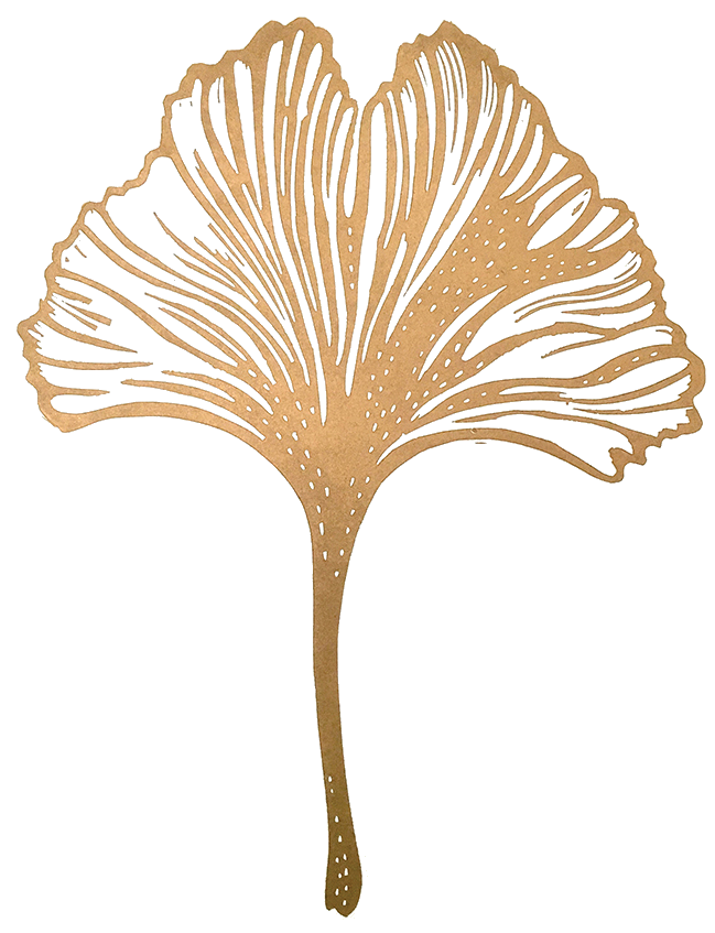 Gold Ginkgo Leaf - Icon