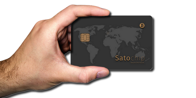 Satochip - Easy fit in your hand